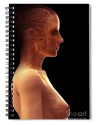 The Brain Female Spiral Notebook