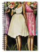 The Bride And Her Bridesmaids Spiral Notebook