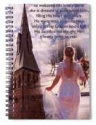 The Bride Of Christ Poem By Kathy Clark Spiral Notebook