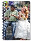 The Bride Plays The Trumpet- Destination Wedding New Orleans Spiral Notebook
