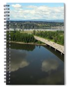 Oregon Bridge From Above Spiral Notebook