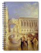 The Bridge Of Sighs Spiral Notebook