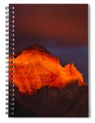 The Brilliance Of Light Mount Rundle Banff Spiral Notebook