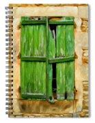 The Broken Shutters Spiral Notebook