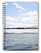 The Brooklyn Bridge And East River Spiral Notebook