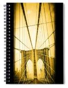 The Brooklyn Bridge New York Spiral Notebook
