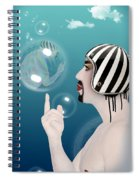 the Bubble man Spiral Notebook