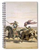 The Bull Following Up The Charge, 1865 Spiral Notebook