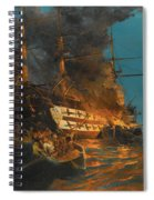 The Burning Of A Turkish Frigate Spiral Notebook
