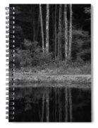 The Bush By The Lake Bw Spiral Notebook