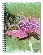 The Butterfly Visitor Spiral Notebook
