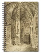 The Cabinet, Engraved By T. Morris Spiral Notebook