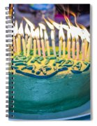 The Cake Is On Fire Spiral Notebook