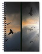 The Call - The Caw - Gently Cross Your Eyes And Focus On The Middle Image Spiral Notebook