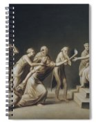 The Calumny Of Apelles Spiral Notebook