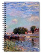 The Canal At Saint-mammes Spiral Notebook