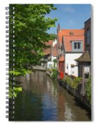 The Canal In The Downtown Of Bruges  Spiral Notebook