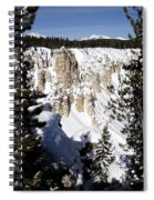 The Canyon In Winter Spiral Notebook