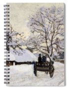 The Carriage- The Road To Honfleur Under Snow Spiral Notebook