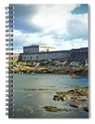 The Castle Fort On The Harbor Spiral Notebook