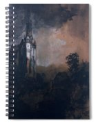 The Castle In The Moonlight  Spiral Notebook