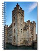 The Castle Of Sirmione. Lago Di Garda Spiral Notebook