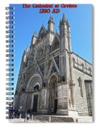 The Cathedral At Orvieto Spiral Notebook