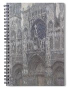 The Cathedral In Rouen Spiral Notebook