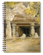 The Cave Of Elephanta, From India Spiral Notebook