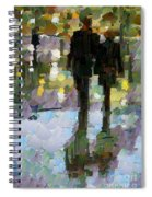 The Champs Elyseee After The Rain Spiral Notebook