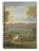 The Chateau Of Saint Germain Oil On Canvas Spiral Notebook