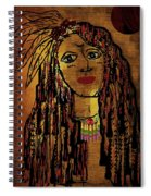 The Cheyenne Indian Warrior Brave Wolf Pop Art Spiral Notebook