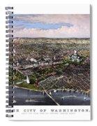 The City Of Washington Birds Eye View Spiral Notebook