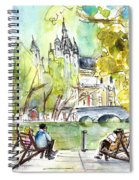 The City Park In Budapest 01 Spiral Notebook