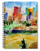 The City Skyline Spiral Notebook