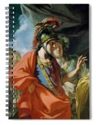The Clemency Of Alexander The Great 356-323 Bc In Front Of The Family Of Darius IIi D.330 Bc Oil Spiral Notebook