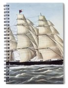 The Clipper Ship Flying Cloud Spiral Notebook