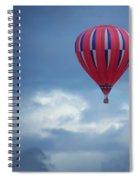 The Clouds Below - Hot Air Balloon Spiral Notebook