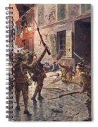 The Coldstream Guards At Landrecies Spiral Notebook