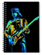 The Colorful Sound Of Mick Playing Guitar Spiral Notebook