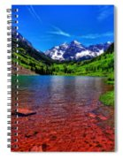 The Colors Of Maroon Bells In Summer Spiral Notebook