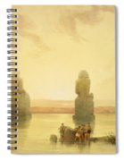 The Colossi Of Memnon Spiral Notebook