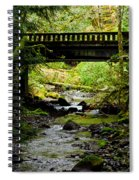 The Coming Of Autumn - Barnes Creek - Lake Crescent - Washington Spiral Notebook