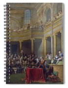 The Committee Of Lyon, 26th January 1802, 1808 Oil On Canvas Spiral Notebook