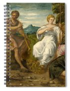 The Contest Between Apollo And Marsyas Spiral Notebook