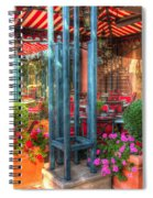 The Corner Cafe Spiral Notebook