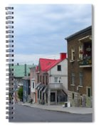 The Corner Of Rue Sainte Claire Overlooking Saint Jean Baptist Church Spiral Notebook