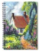 The Cottage Garden Path Spiral Notebook