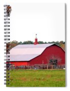 The Country Red Barn Spiral Notebook