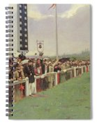 The Course At Longchamps Spiral Notebook